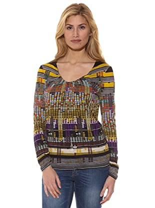 Peace & Love Camiseta Estampada Maya (Multicolor)