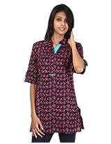 Rajrang Women's Wear Print Cotton Kurta Top Blouse Size M