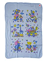 LOVE BABY INTERLOCK TOWEL WITH HOOD BLUE 1915 INTERLOCK TOWEL BLUE
