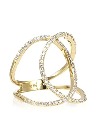 Melanie Auld Golden Pavé Double Ring