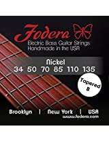 Fodera Electric Bass Guitar Strings, Roundwound 6-String Nickel - 34135 TB