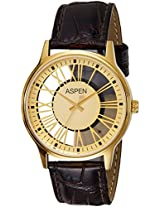 Aspen Analog Gold Dial Men's Watch - AM0081