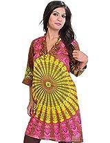 Exotic India Womens Cotton Kurta (Sto74-Xs-Mocha-Brown _Mocha Brown _X-Small)