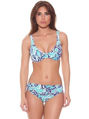 Ana Durán Bikini Brisa (Turquesa/Blanco)
