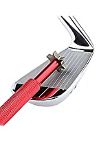 Golfoy Golf Club Groove Sharpener Tool With 6 Cutter Faces - Red