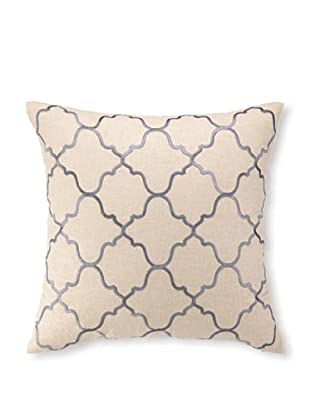 D.L Rhein Moroccan Tile Embroidery Pillow, Granite, 20
