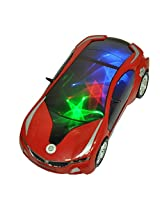 Nyrwana Musical Car with 3D star Lights and Bump and go action (white)