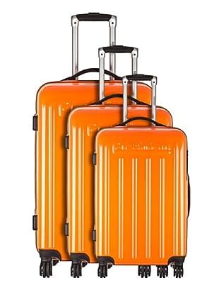 Platinium Set 3 trolley 4 ruote Nagoya (Arancione)