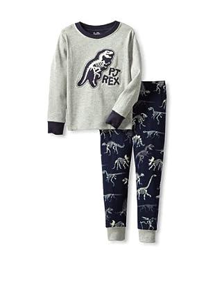 Hatley  Pijama Pisa (Gris / Marino)