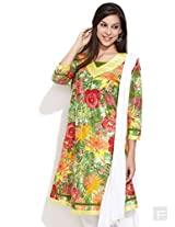 Roses Are Red Floral Kurta -Multi Colour-S