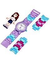 LEGO Kids' 8020165 LEGO Friends Olivia Plastic Watch with Link Bracelet and Figurine