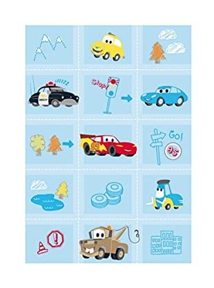 ABC Tappeti Alfombra Disney Comfort Line (Cars Baby Azul)