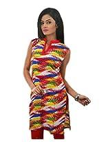 Riiti Designs Women's Cotton Kurti (Multi Colour) (X-Large)