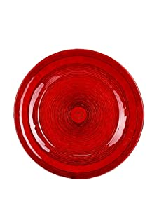 Global Amici Brava Red Charger Plate