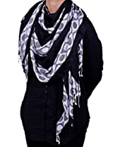 Dulhan Choice Women's Other Stole (DC1079_Black_Free Size)