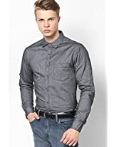 Solid Grey Casual Shirt
