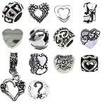 Timeline Treasures European Style Charm Bracelet Beads Fits Pandora Hearts