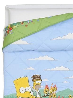 Cartoons Home Trapunta Simpson Camping (celeste/verde)
