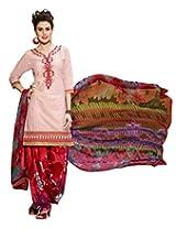 Kvsfab Pink Pure Cotton Cambric Salwar Kameez