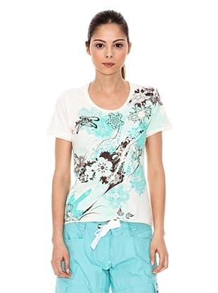 Iguana T-Shirt Salsk (weiß / rot)