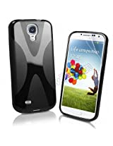 Generic Premium Quality TPU S Line case for Samsung Galaxy S4 (i9500) - Black X Line