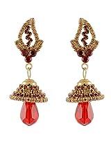 Nakshatra Collection Golden Metal Jhumki For Women