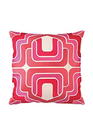 Trina Turk Ogee Embroidered Pillow, Pink, 20