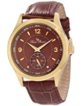 Lucien Piccard Men's 11606-YG-04 Grande Casse Brown Dial Brown Leather Watch