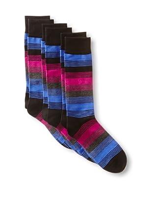 2xist Men's Dress Crew Socks F13 Stripe - 3 Pack (Black)