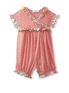 Jupon Baby Karen Short Sleeve Kimono Romper (Pink)