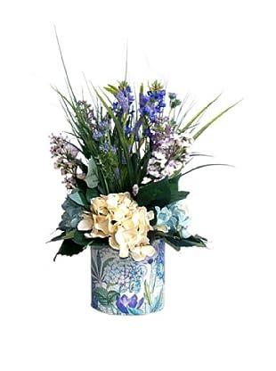 Lilac Hydrangea & Grass (Purple/Green/Creme)