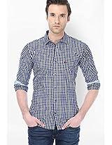 Checks Blue Casual Shirt Basics