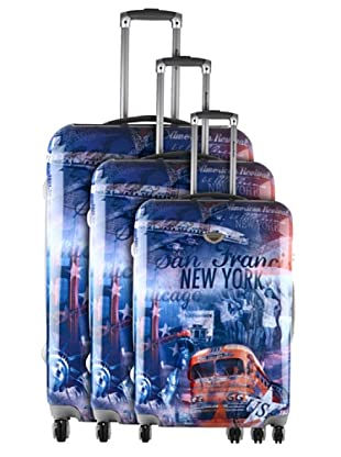 American Revival 3er Set Trolley New York Bus (Mehrfarbig)