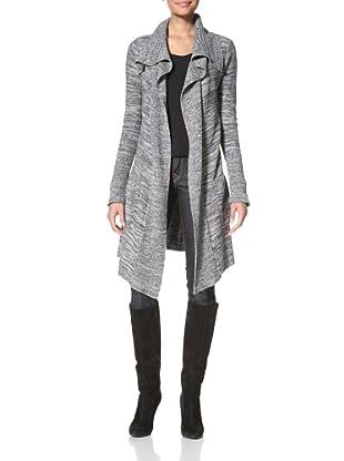 Suss Knitwear Women's Brittany Cardigan (Dark Charcoal/Heather Grey)