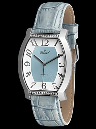 Bassel Reloj 60121A con Correa de Piel azul