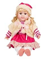 Happy Kids Strawberry Talking Doll (Pink)