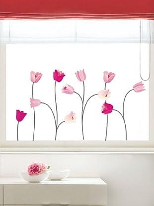 Ambiance Live Wandtattoo Pink poppy flowers mehrfarbig