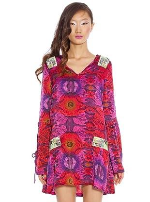 Custo Vestido (Rojo / Morado)