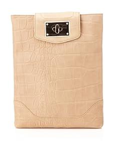 BE&D Women's Croc iPad Case (Beige)