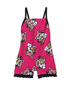 SUBMARINE by Romero Britto Baby 1-Piece Boy Short Teddy Bear Swimsuit (Teddy Bear Print)