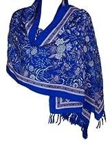 Summer scarves for women - Clothing Fashion Accessory Silk Scarf Blue 72x22 Inch
