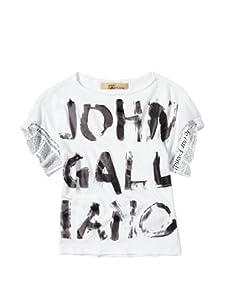 John Galliano Girl's Screen Print Top (White)
