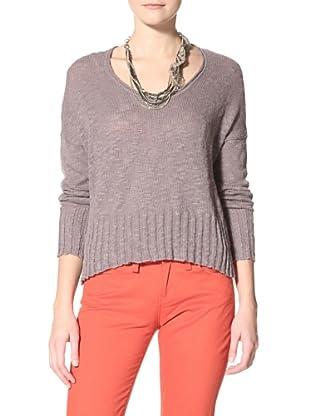 Acrobat Women's High-Low Sweater (Graphite)