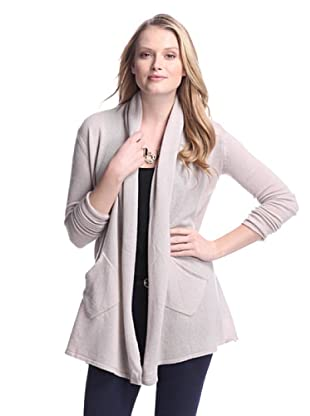 Cashmere Addiction Women's Open Cashmere Cardigan (Mushroom)