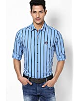 Striped Blue Casual Shirt