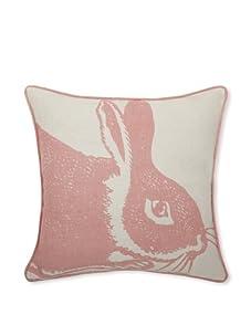 """Thomas Paul Bunny Linen 14"""" x 14"""" Pillow (Rose)"""