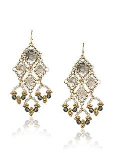 Diane Yang Silver Chandelier Earrings