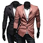 Mens Fashion Casual 2 Button Designed Blazer Suit Stylish Slim Fit Jacket Coat