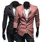 Mens Fashion Casual 2 Button Designed Blazer Suit Stylish Slim Fit Jacket Coat