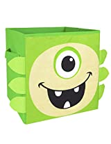 Nuby Monster Folding Storage Bin, Green